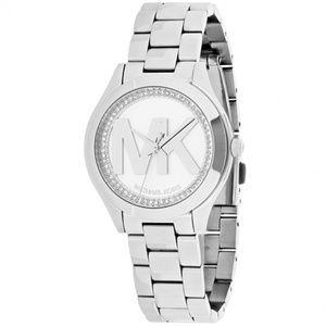 Silver Mini Slim Runway Dial Ladies  Watch Mk3548